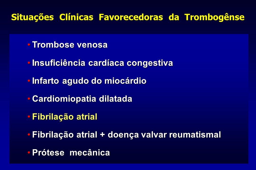 Situações Clínicas Favorecedoras da Trombogênse