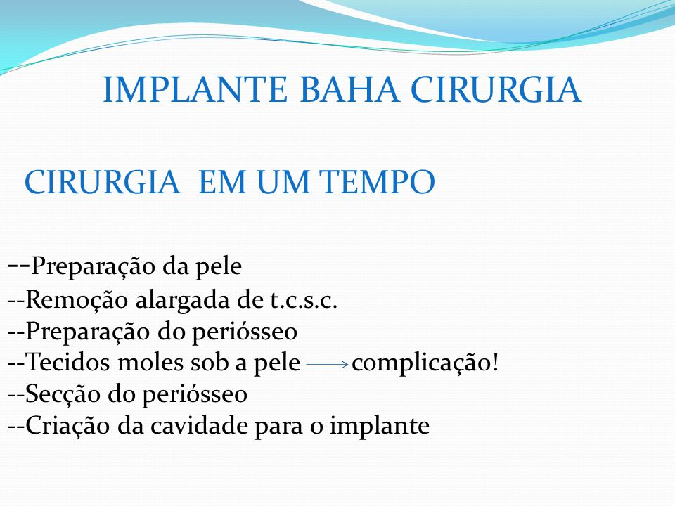 IMPLANTE BAHA CIRURGIA