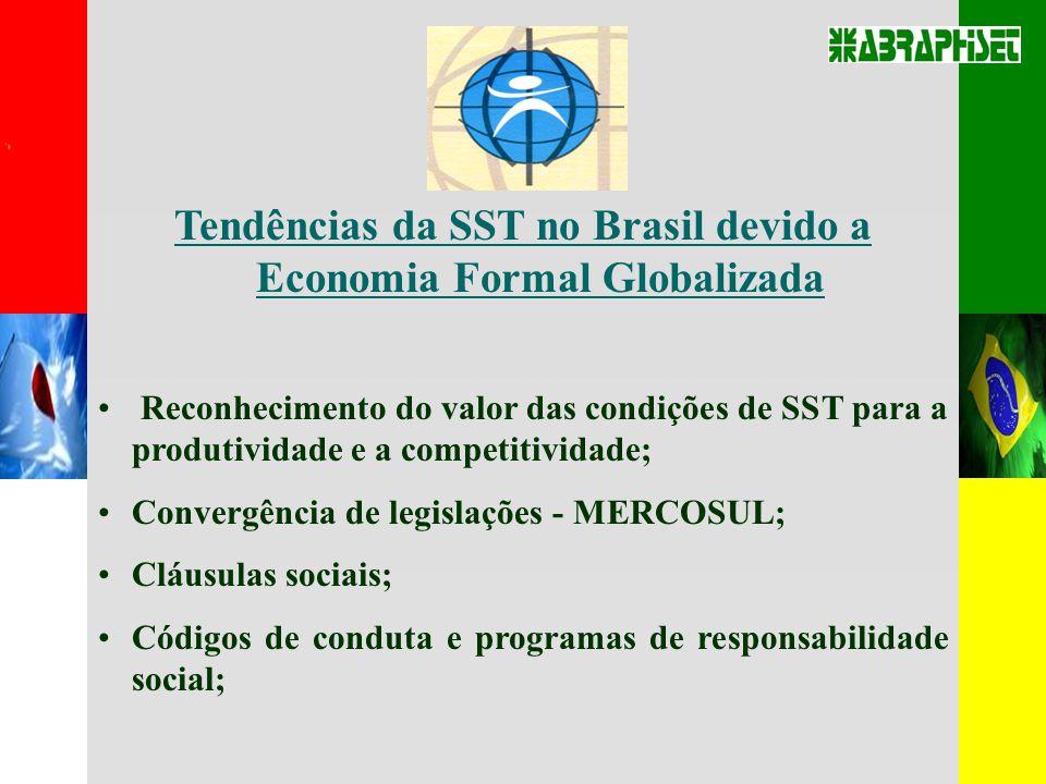 Tendências da SST no Brasil devido a Economia Formal Globalizada