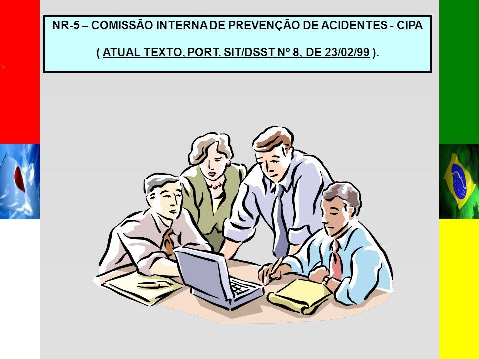 NR-5 – COMISSÃO INTERNA DE PREVENÇÃO DE ACIDENTES - CIPA