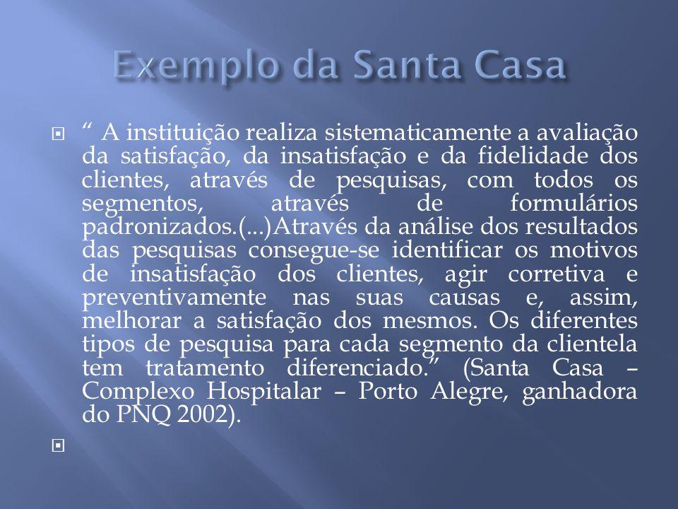 Exemplo da Santa Casa