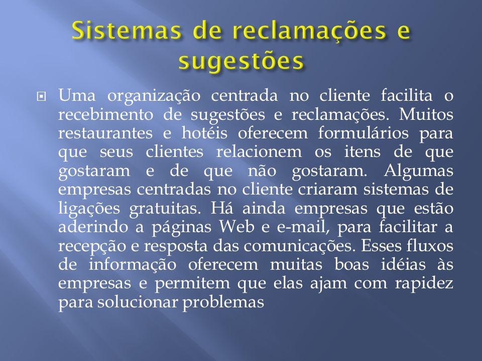 Sistemas de reclamações e sugestões