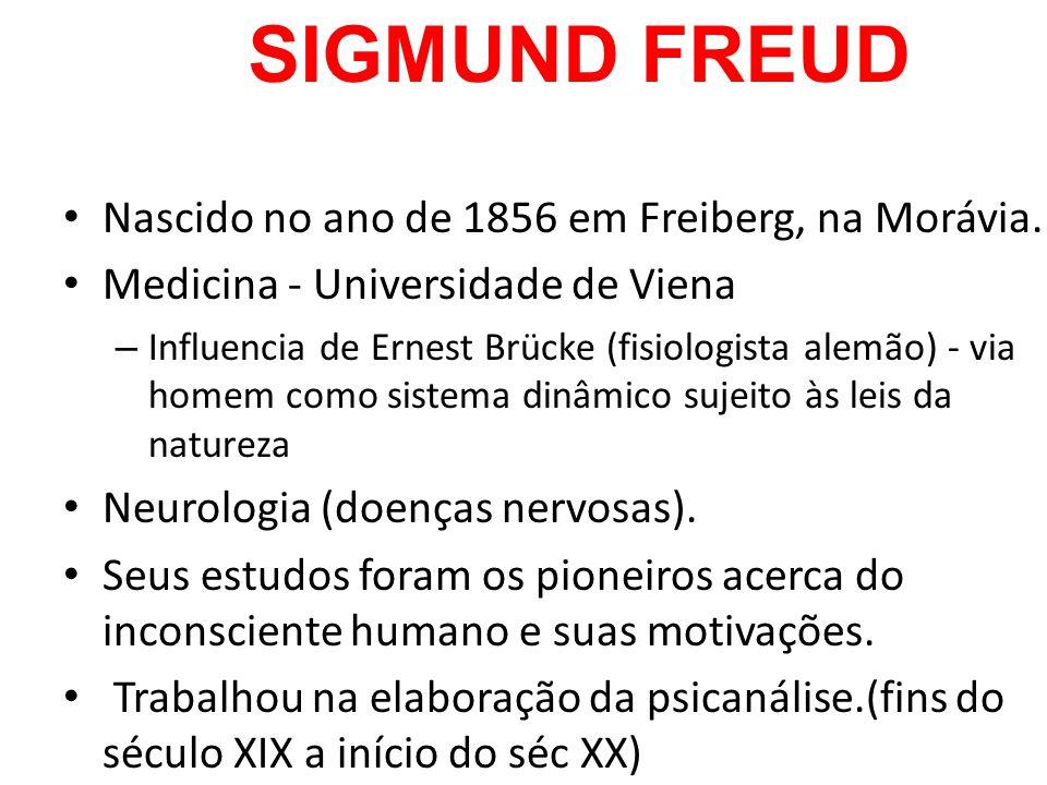 Sigmund Freud Nascido no ano de 1856 em Freiberg, na Morávia.
