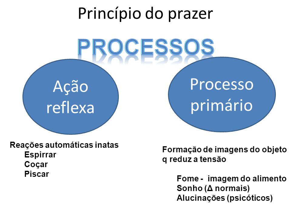 processos Princípio do prazer Processo primário Ação reflexa
