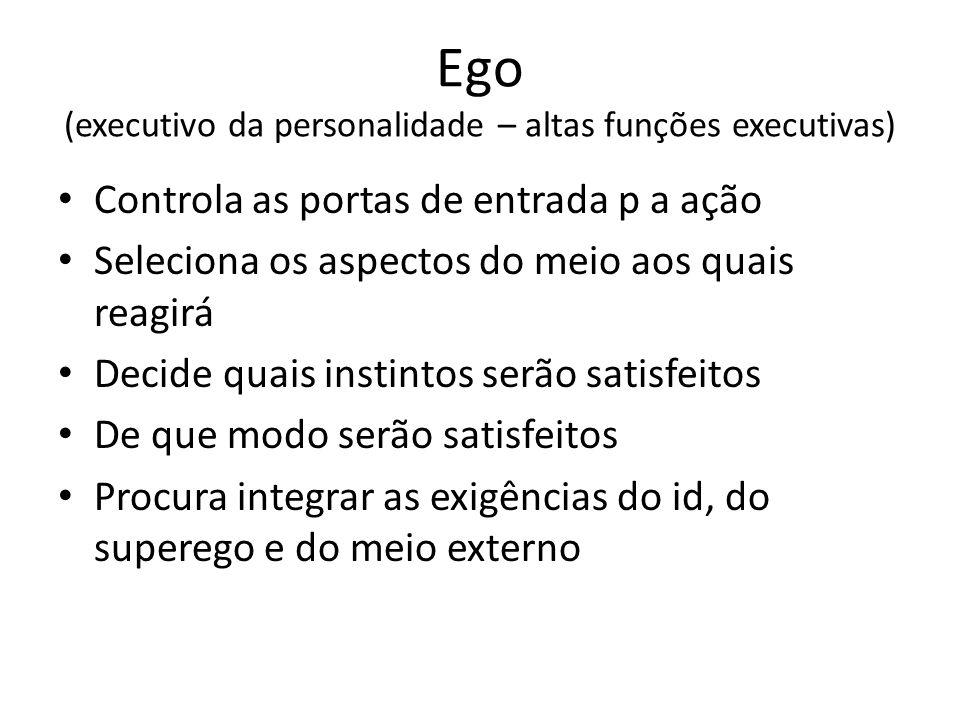 Ego (executivo da personalidade – altas funções executivas)