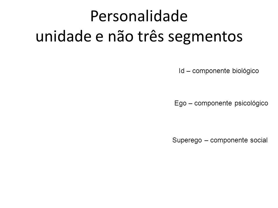 Personalidade unidade e não três segmentos