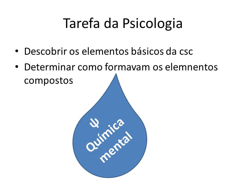 Tarefa da Psicologia Química mental ψ