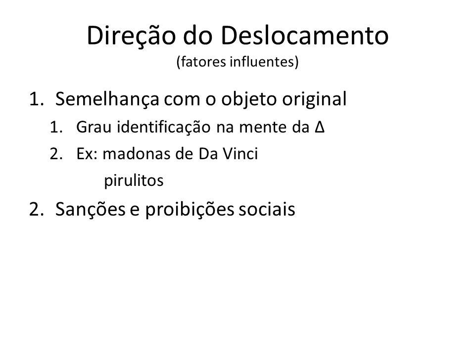 Direção do Deslocamento (fatores influentes)