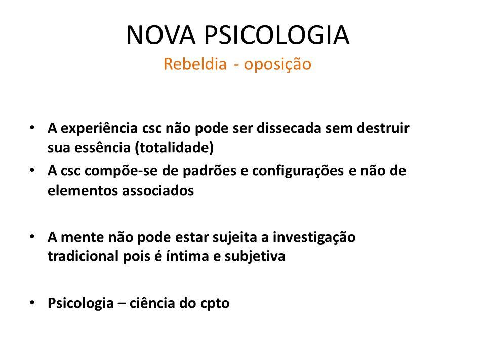 NOVA PSICOLOGIA Rebeldia - oposição