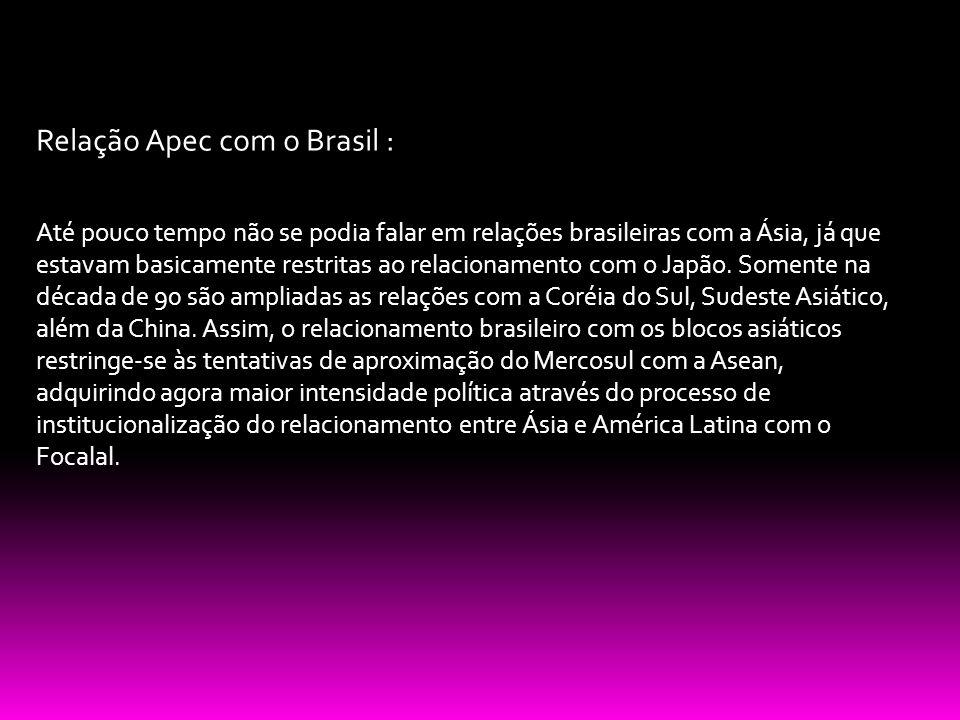Relação Apec com o Brasil :