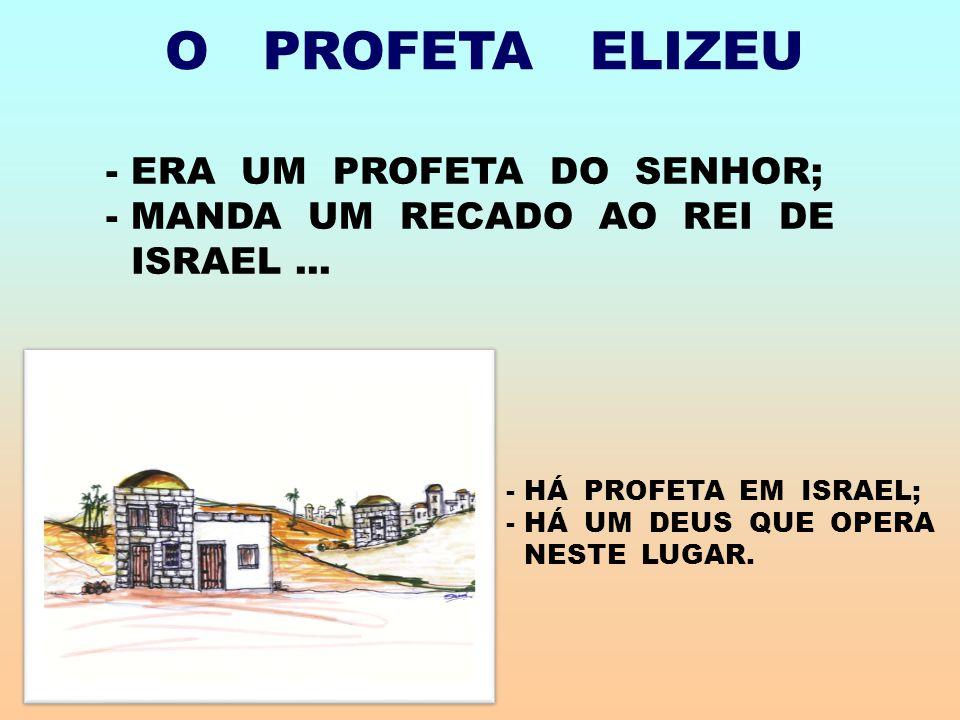 O PROFETA ELIZEU ERA UM PROFETA DO SENHOR; MANDA UM RECADO AO REI DE