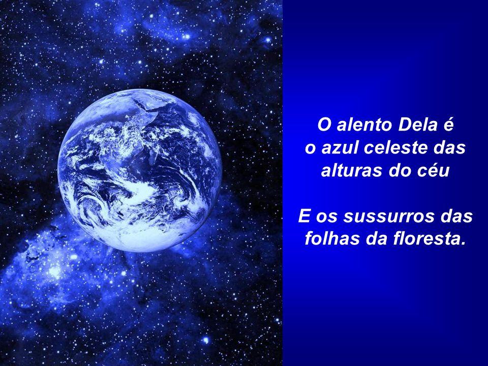 o azul celeste das alturas do céu