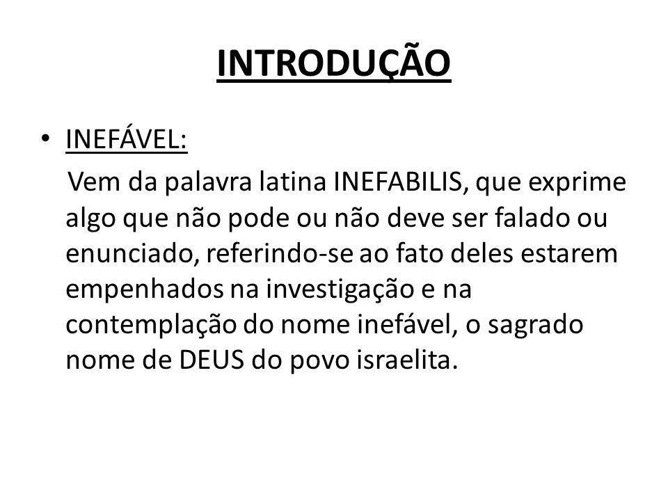 INTRODUÇÃO INEFÁVEL: