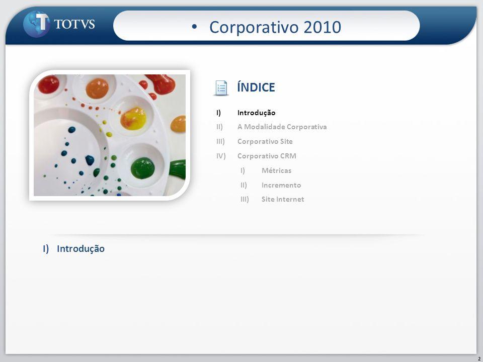Corporativo 2010 ÍNDICE I) Introdução Introdução