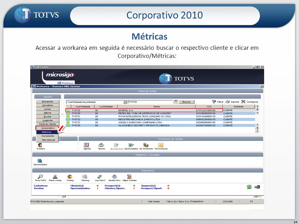 Corporativo 2010 Métricas.