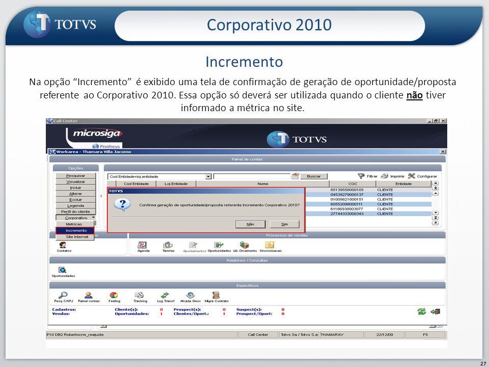 Corporativo 2010 Incremento