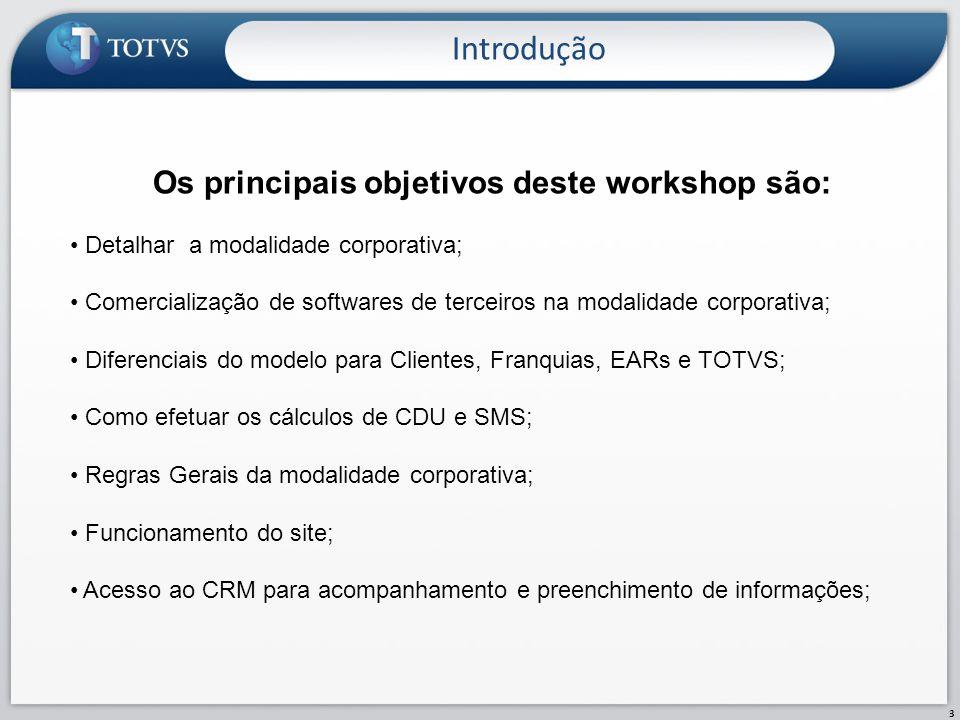Os principais objetivos deste workshop são: