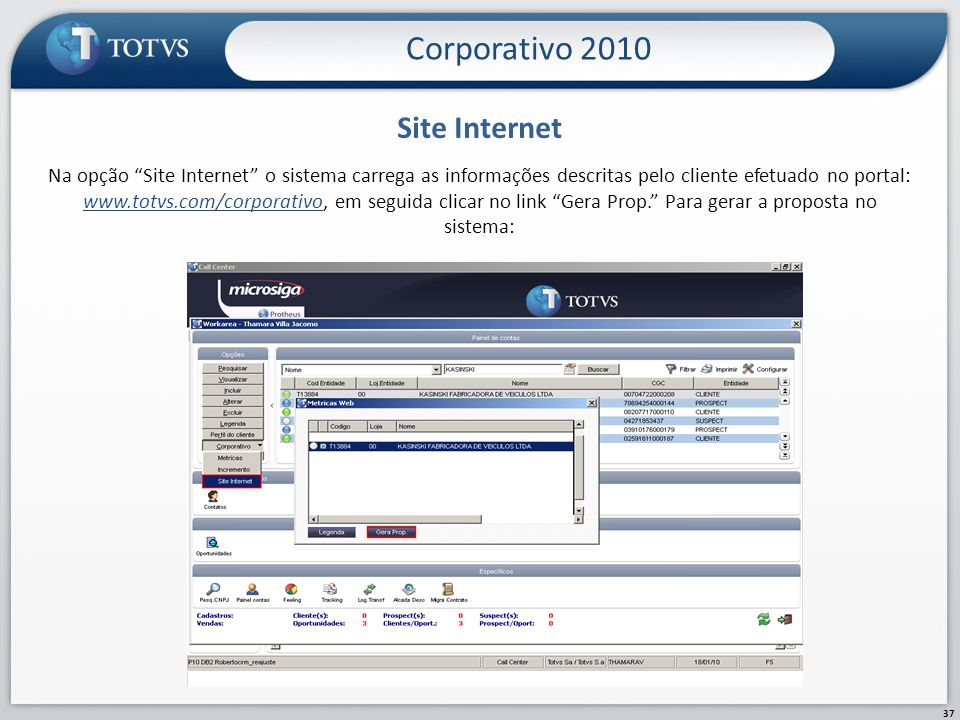Corporativo 2010 Site Internet