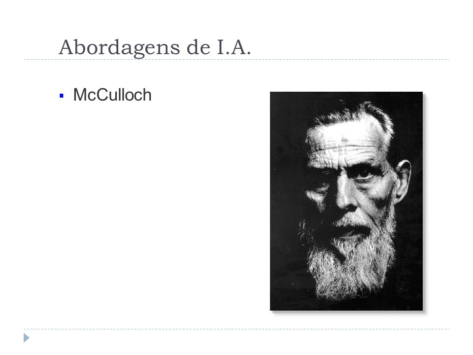 Abordagens de I.A. McCulloch
