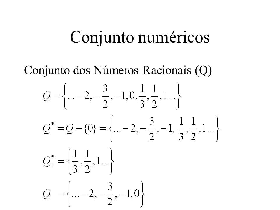 Conjunto numéricos Conjunto dos Números Racionais (Q)
