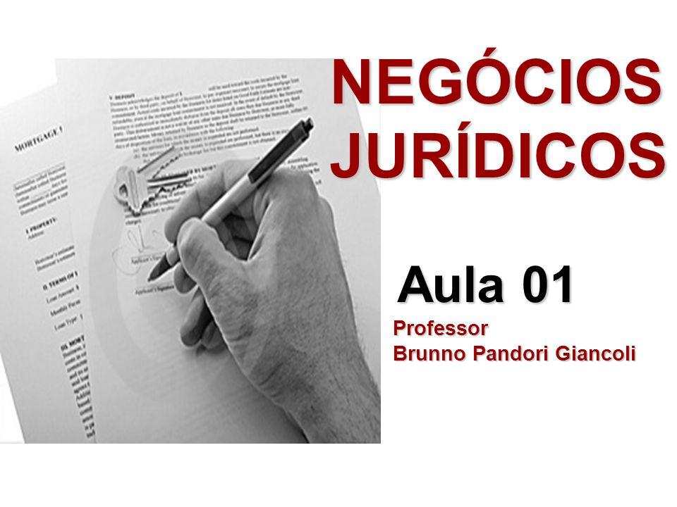 NEGÓCIOS JURÍDICOS Aula 01