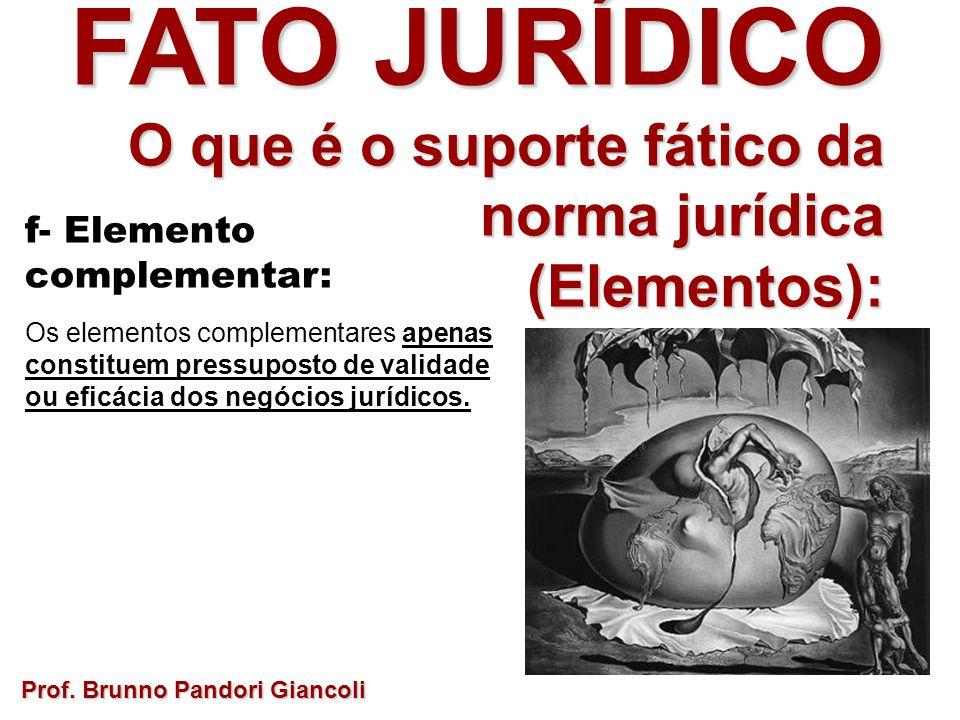 FATO JURÍDICO O que é o suporte fático da norma jurídica (Elementos):