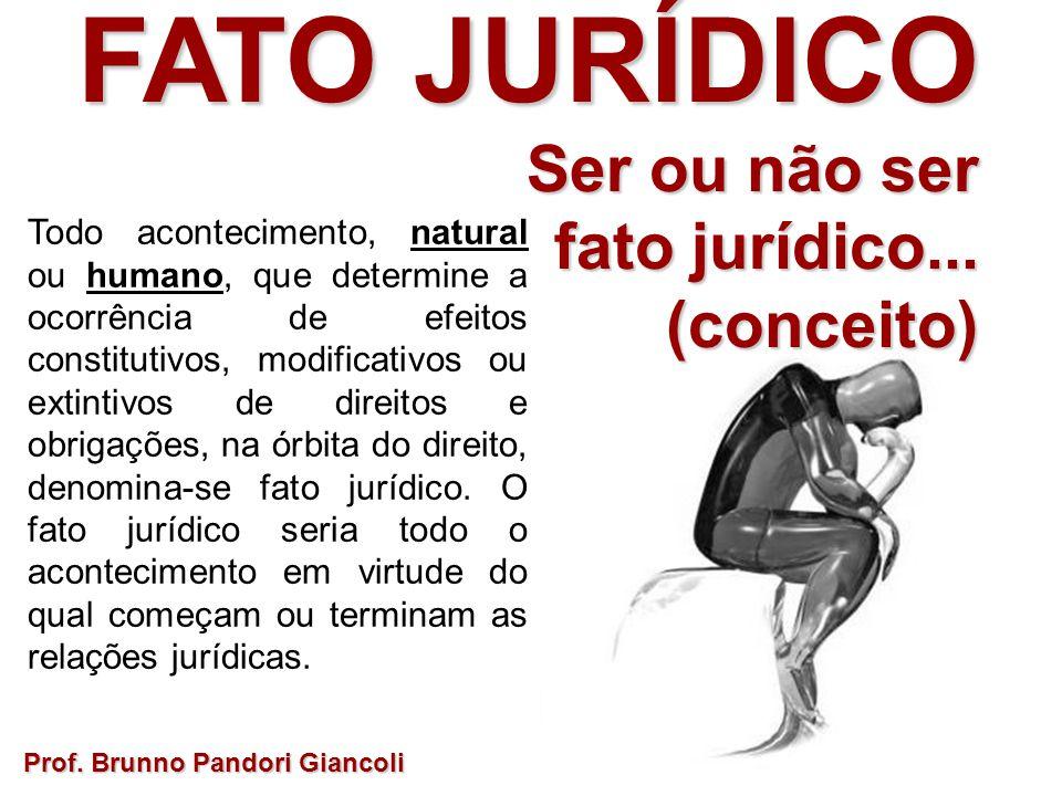 FATO JURÍDICO Ser ou não ser fato jurídico... (conceito)