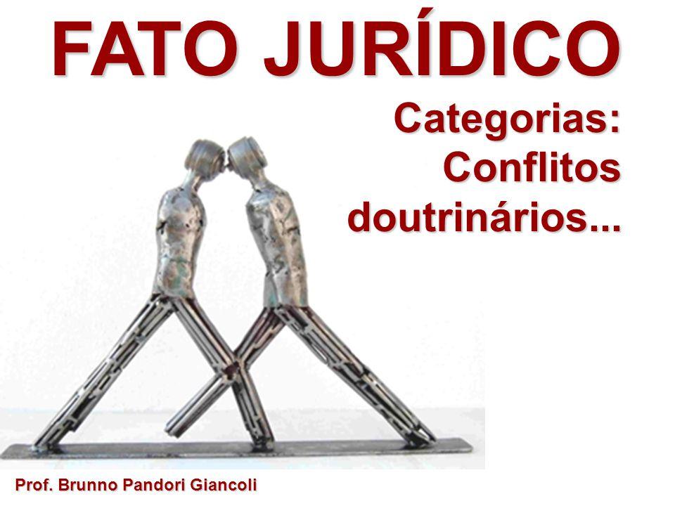 FATO JURÍDICO Categorias: Conflitos doutrinários...