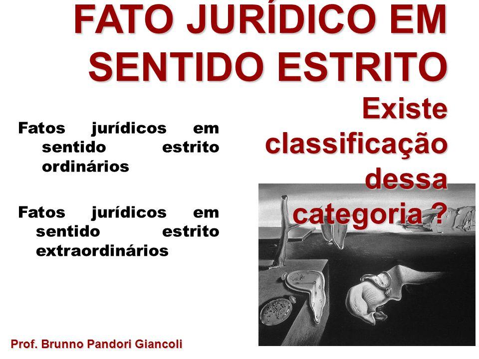FATO JURÍDICO EM SENTIDO ESTRITO