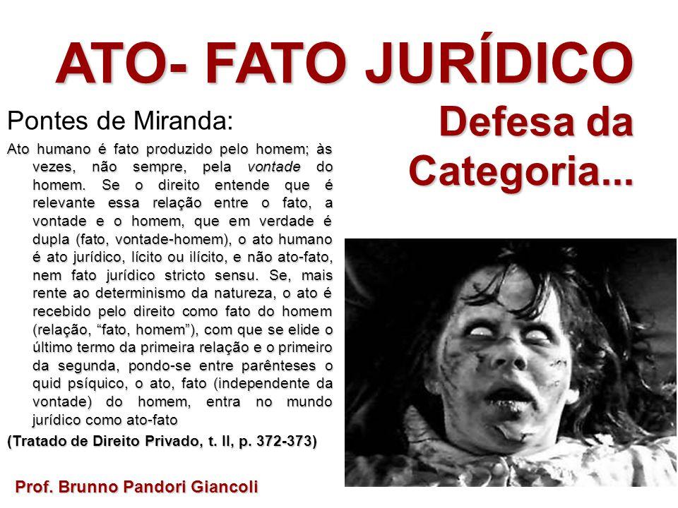 ATO- FATO JURÍDICO Defesa da Categoria... Pontes de Miranda: