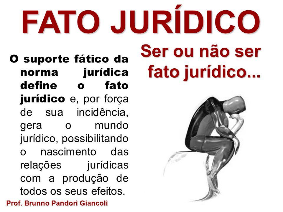 FATO JURÍDICO Ser ou não ser fato jurídico...