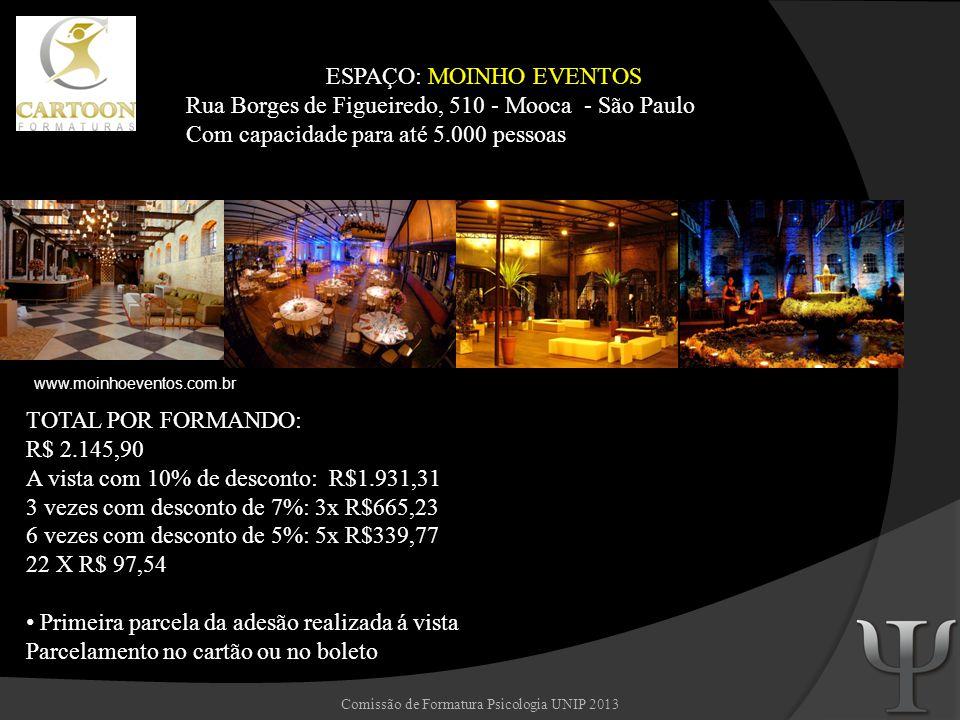 ESPAÇO: MOINHO EVENTOS