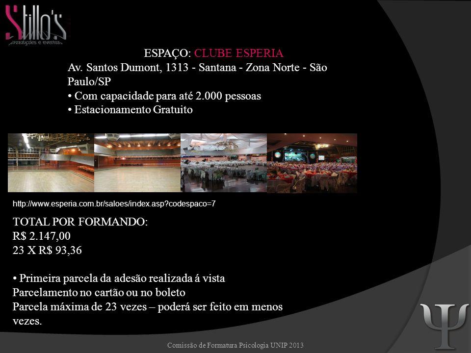 Comissão de Formatura Psicologia UNIP 2013