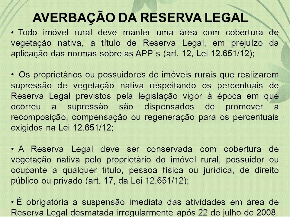 AVERBAÇÃO DA RESERVA LEGAL