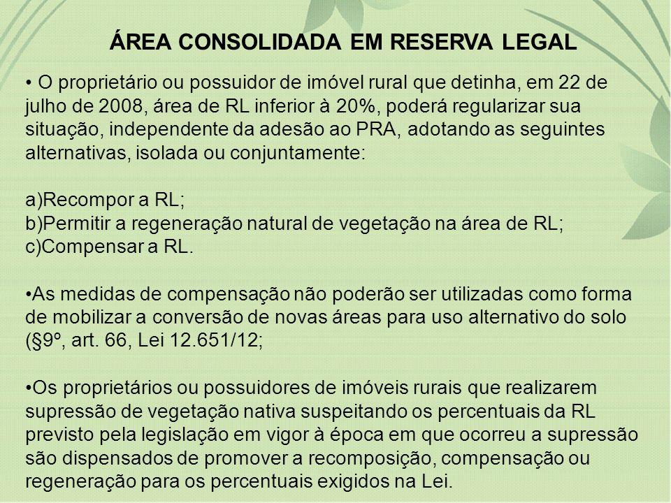 ÁREA CONSOLIDADA EM RESERVA LEGAL