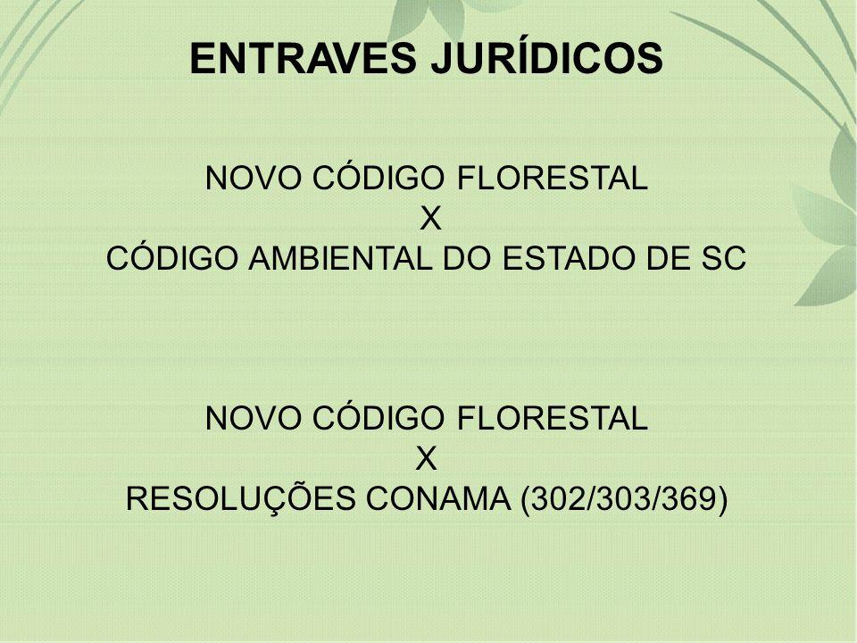 ENTRAVES JURÍDICOS NOVO CÓDIGO FLORESTAL X