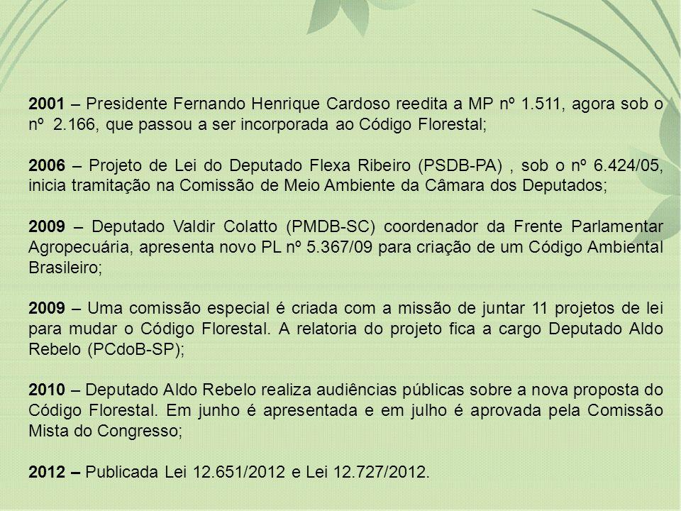 2001 – Presidente Fernando Henrique Cardoso reedita a MP nº 1