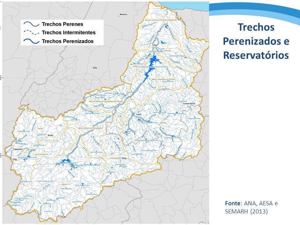 Trechos Perenizados e Reservatórios