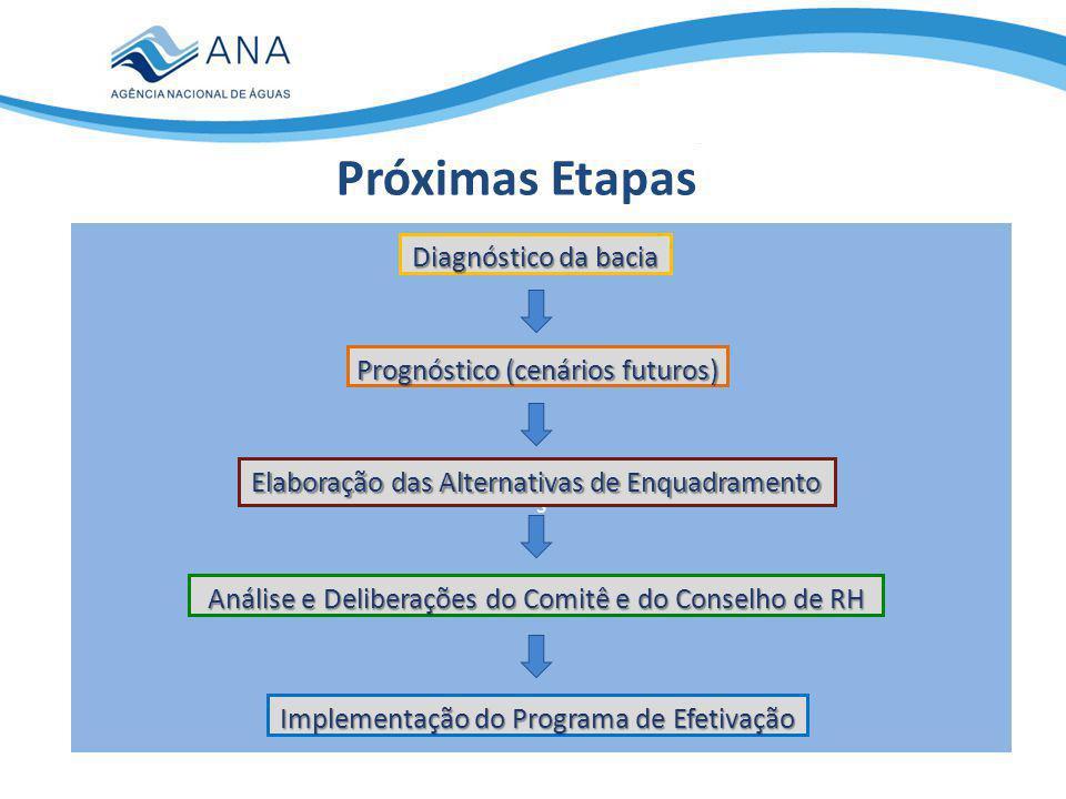 Próximas Etapas Diagnóstico da bacia Prognóstico (cenários futuros)