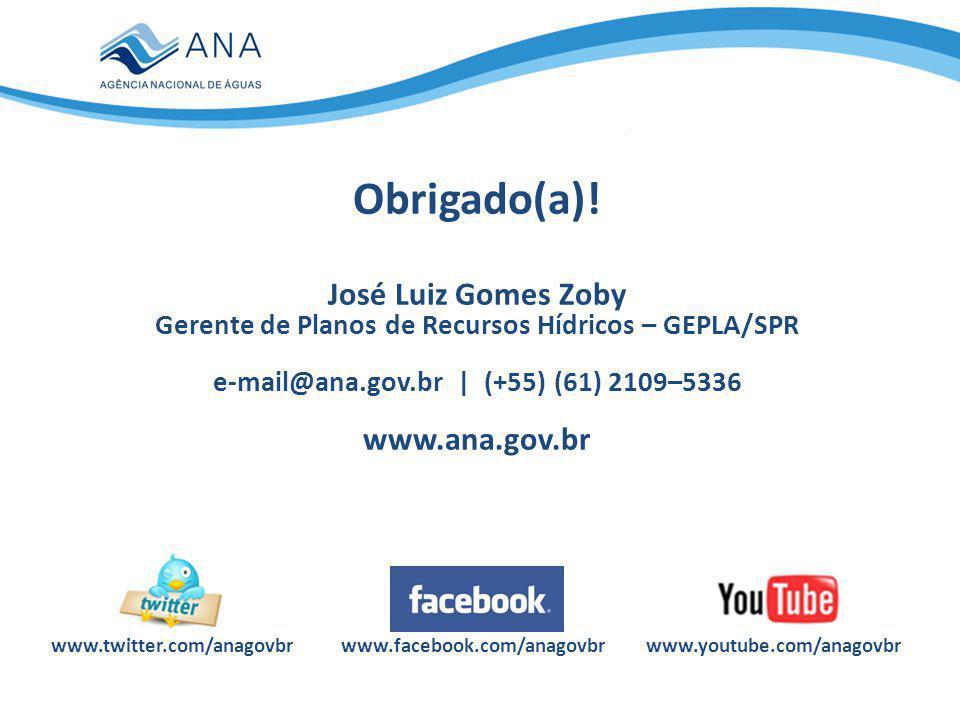 Obrigado(a)! José Luiz Gomes Zoby www.ana.gov.br