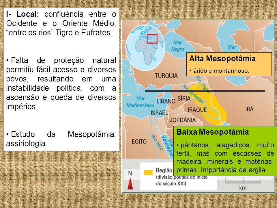 Estudo da Mesopotâmia: assiriologia. Alta Mesopotâmia