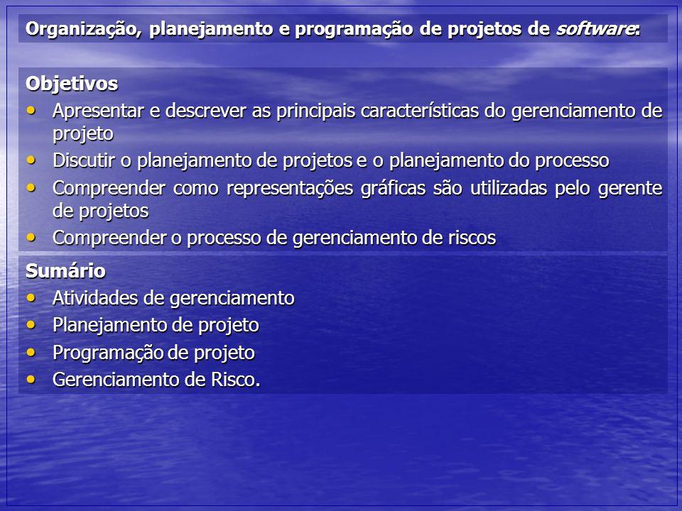 Discutir o planejamento de projetos e o planejamento do processo