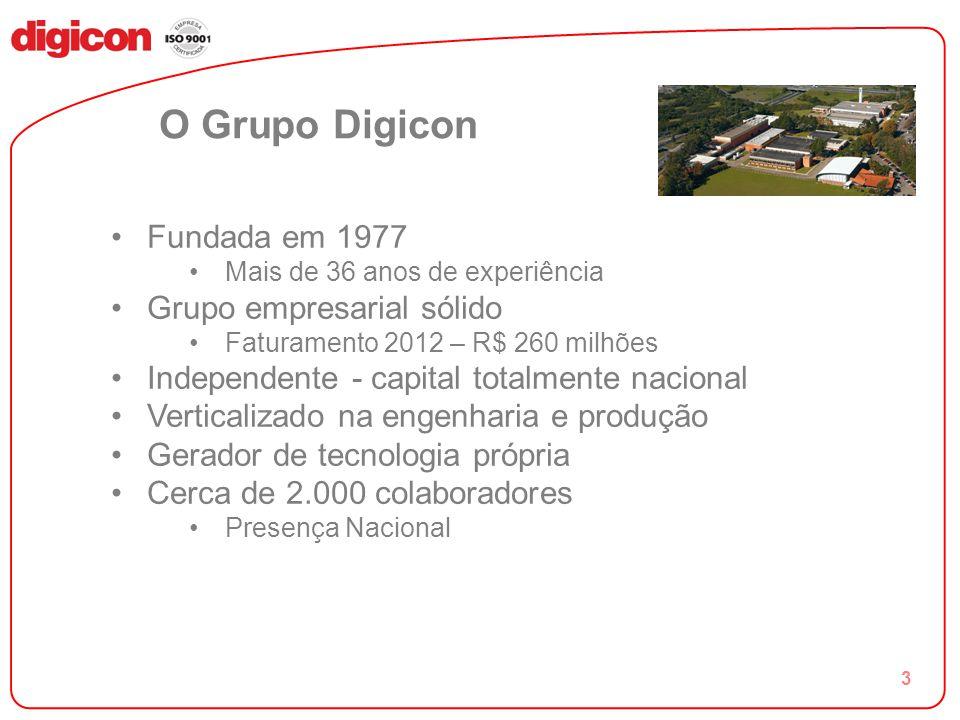O Grupo Digicon Fundada em 1977 Grupo empresarial sólido