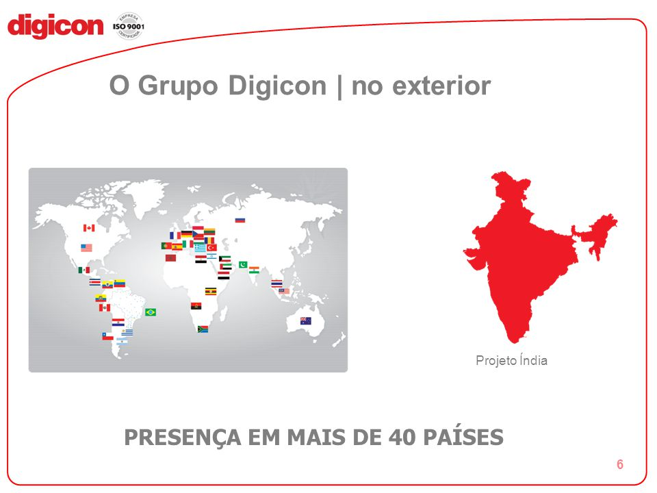 O Grupo Digicon | no exterior
