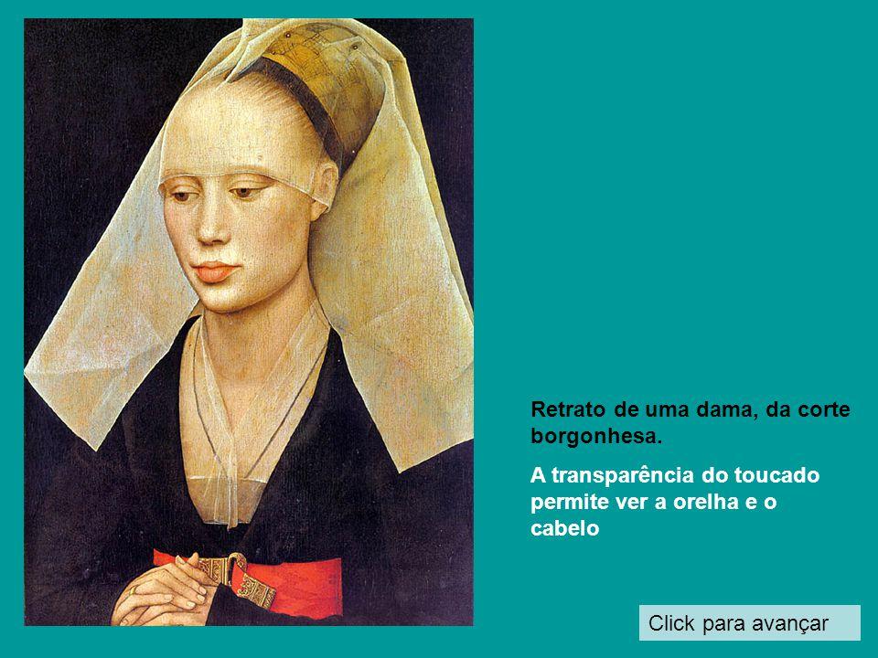 Retrato de uma dama, da corte borgonhesa.