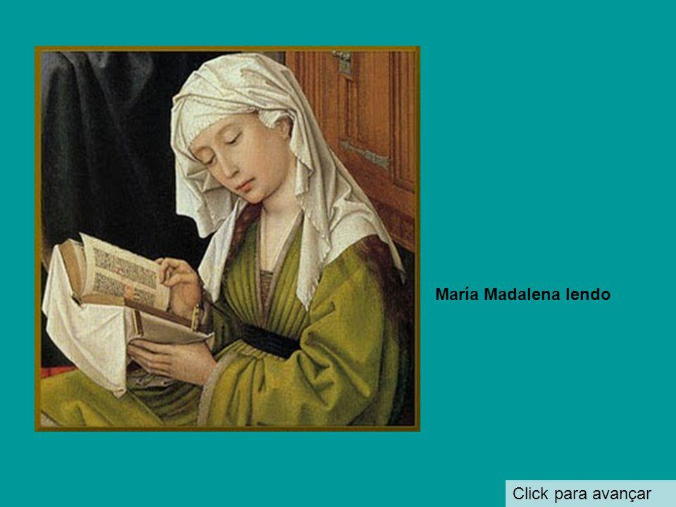 María Madalena lendo Click para avançar