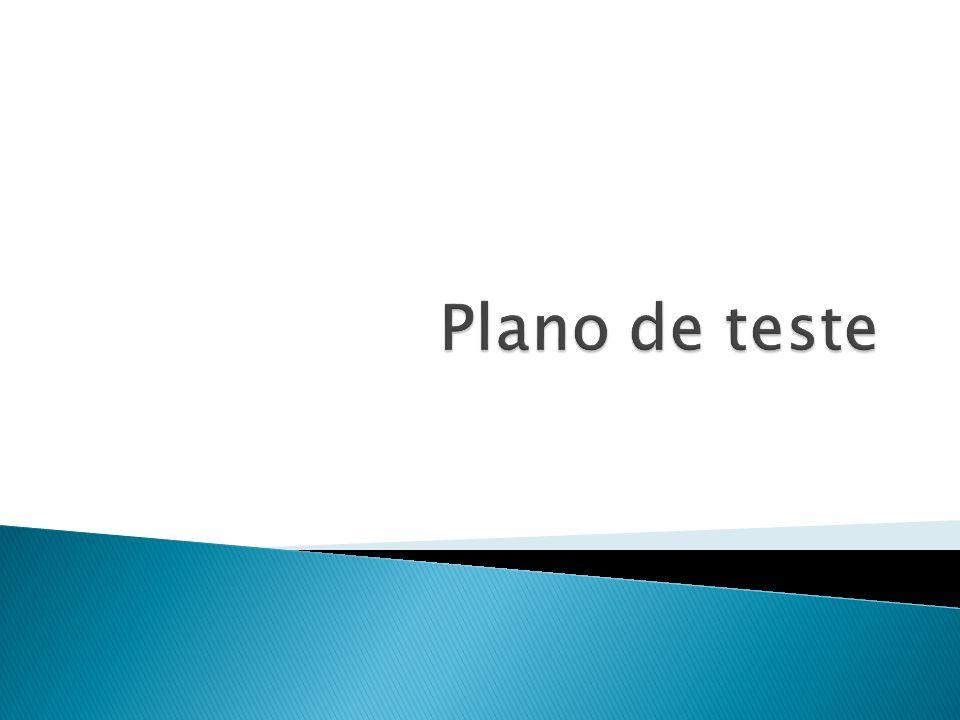Plano de teste