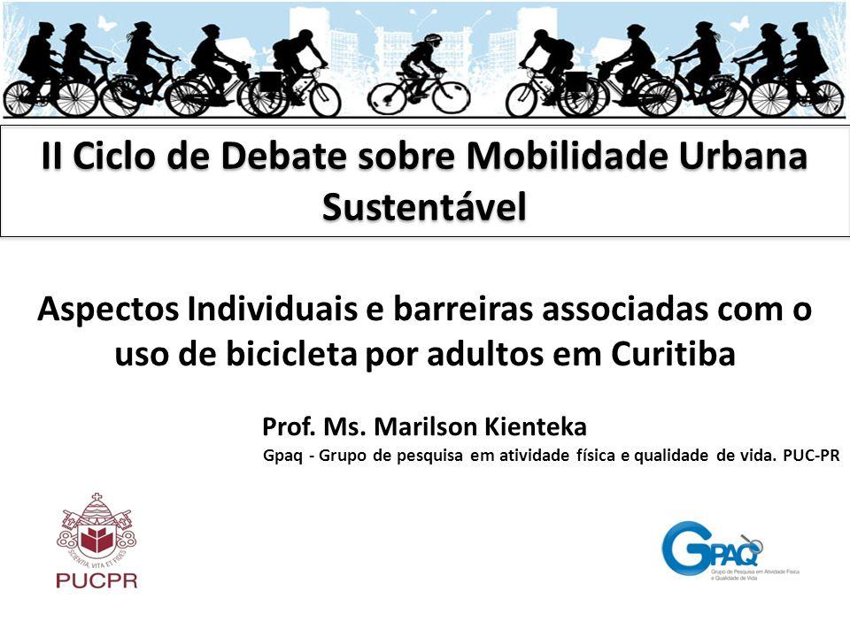 II Ciclo de Debate sobre Mobilidade Urbana Sustentável