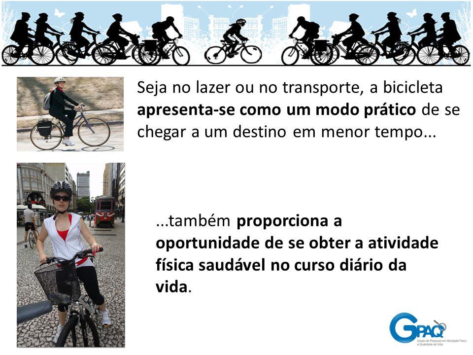 Seja no lazer ou no transporte, a bicicleta apresenta-se como um modo prático de se chegar a um destino em menor tempo...