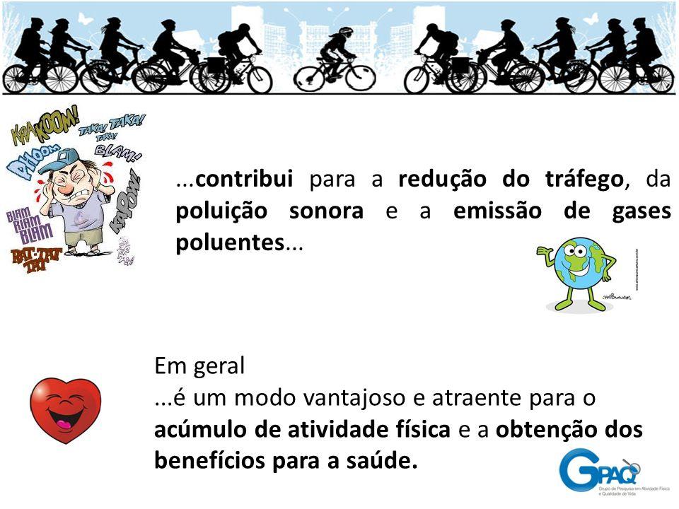 ...contribui para a redução do tráfego, da poluição sonora e a emissão de gases poluentes...